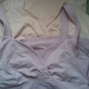 2 VS Bra Tops-one pink & other purple size m